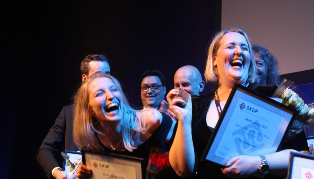 Mona Grivi Norman og Synnøve Åsebø vant Skup-prisen i april. Foto: Martin Huseby Jensen
