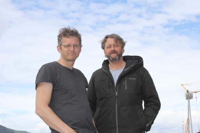 Thomas Ergo og Hans Petter Aass synes det både er stas og litt pinlig å vinne pris for «Glassjenta»
