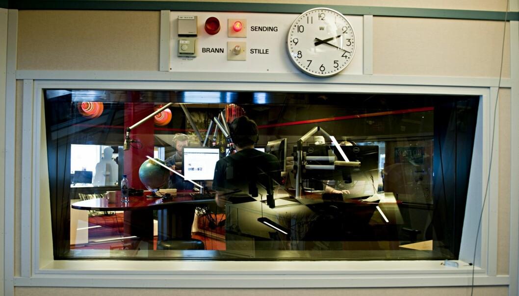 Illustrasjonsfoto fra radiostudio. Arkivfoto Journalisten.