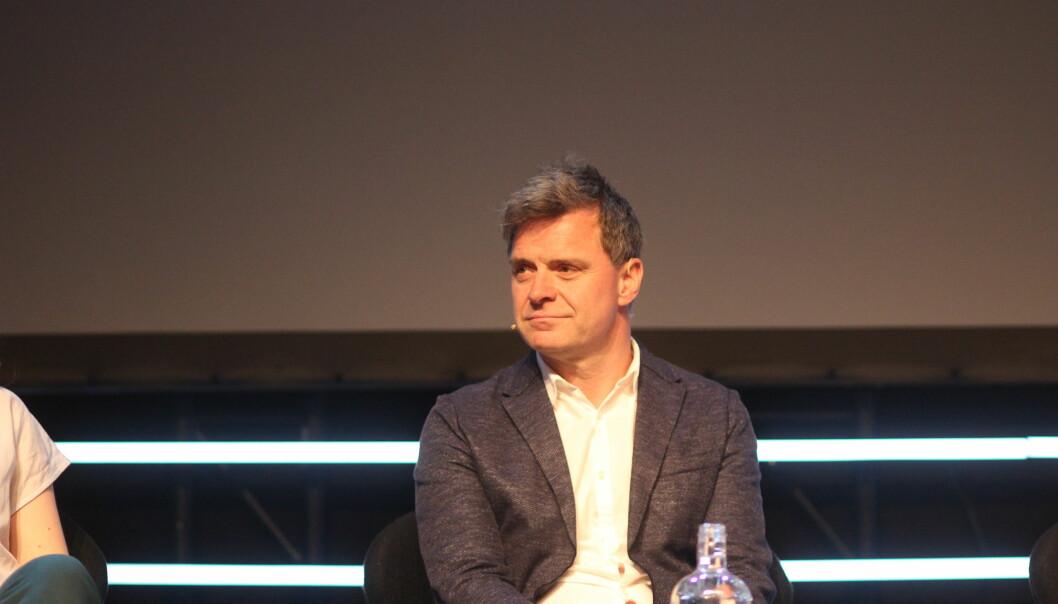 Sjefredaktør Espen Egil Hansen i Aftenposten var med i debatten onsdag. Foto: Angelica Hagen