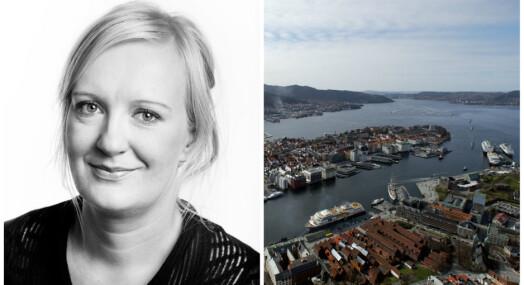 Liv Skotheim drømmer om overskriften «Bergen ny hovedstad i Norge»