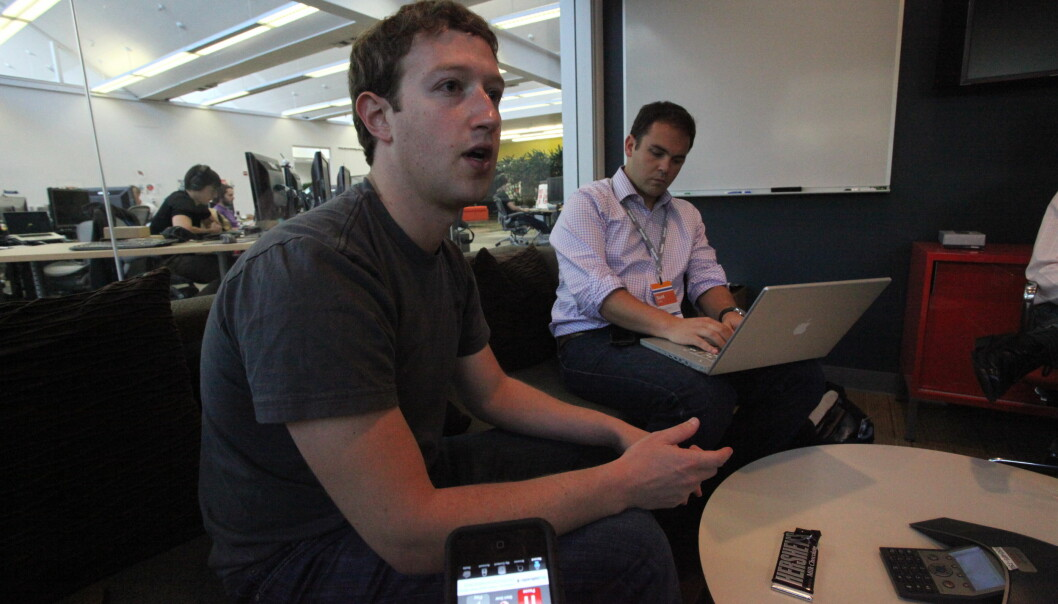 Facebooks gründer Mark Zuckerberg intervjues av Financial Times i 2010. Foto: Robert Scoble/Flickr.com
