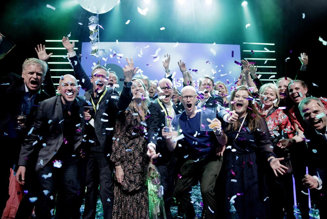 Så glade ble de VG-ansatte da VG ble kåret til Årets avis under Medieprisene i 2018.