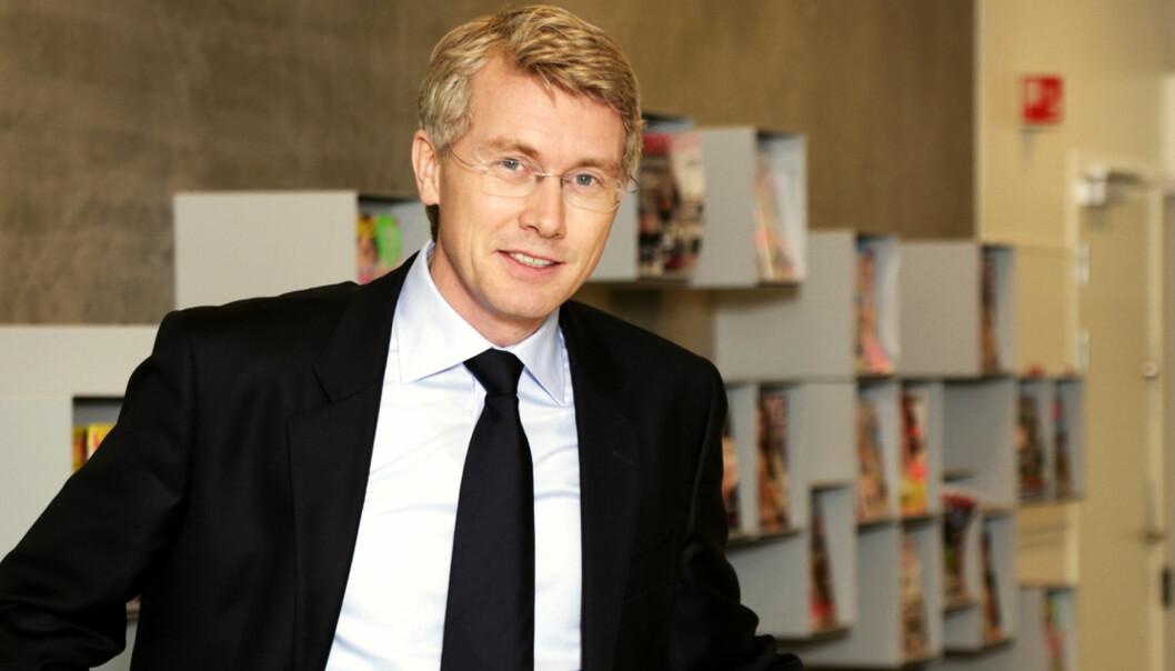 Ansvarlig redaktør og administrerende direktør Olav T. Sandnes i TV 2. Foto: Bjørn Inge Karlsen