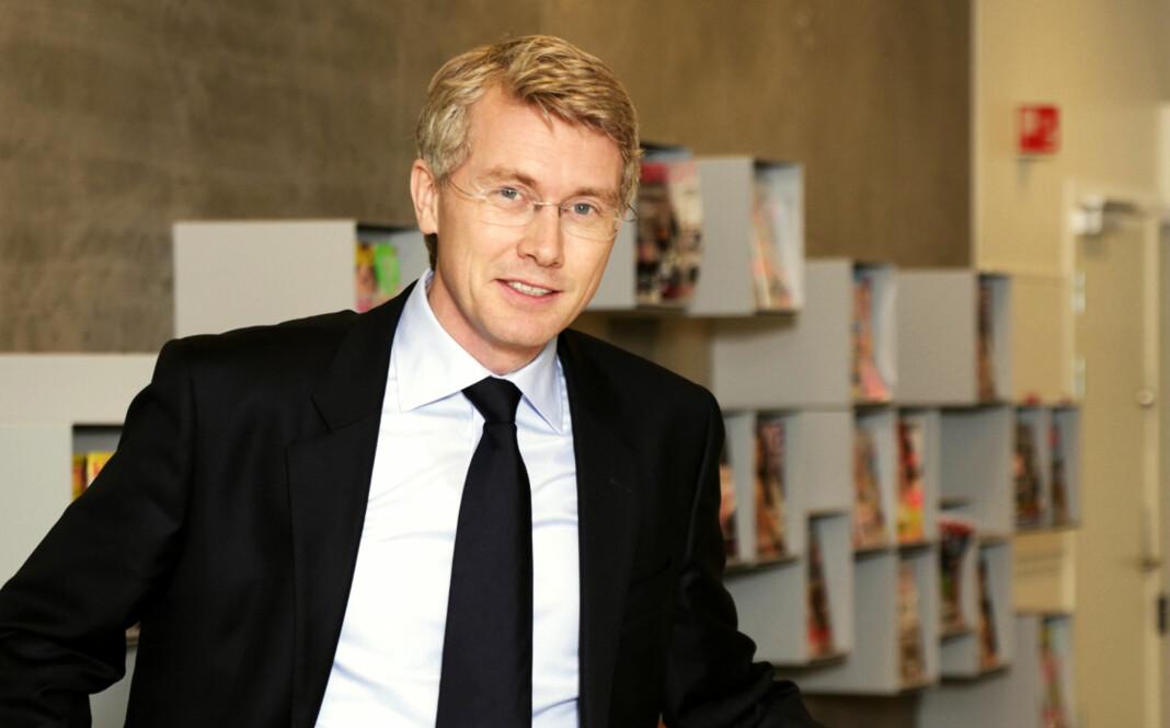 TV 2-sjef Olav T. Sandnes avventer et eventuelt søksmål. Foto: Bjørn Inge Karlsen, Egmont Publishing