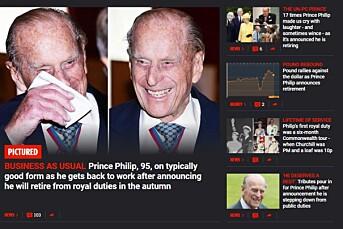 The Sun erklærte prins Philip for død