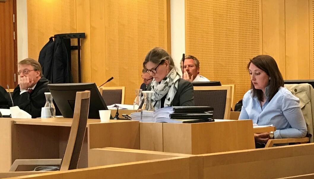 Journalist Hanne Taalesen fra TV 2 forklarte seg fredag i Oslo tingrett. Foto: Glenn Slydal Johansen