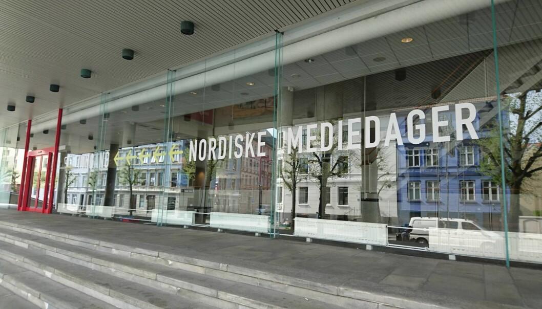 Nordiske Mediedager foregår blant annet i Grieghallen i Bergen sentrum.