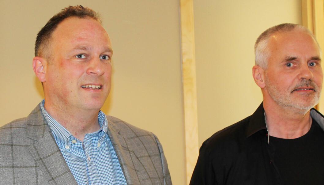 Forhandlingslederne Anders Aarskog, MBL og Stein Larsen, NJ. Foto: Caroline M. Svendsen