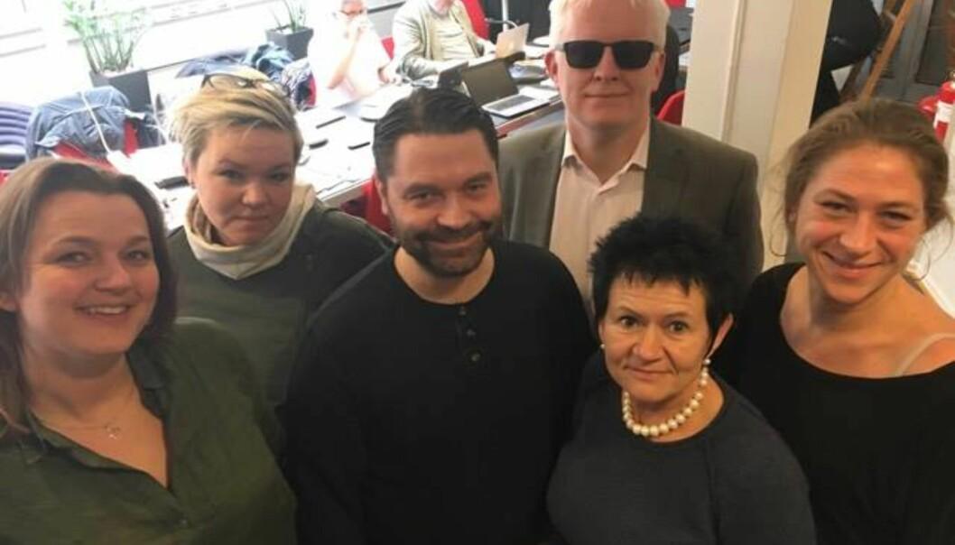 Hege Iren Frantzen, Henrikke Helleland, Pål Hellesnes, Dag Idar Tryggestad, Britt Ellen Negård og Anette Selmer Andresen er NJs nye AU.