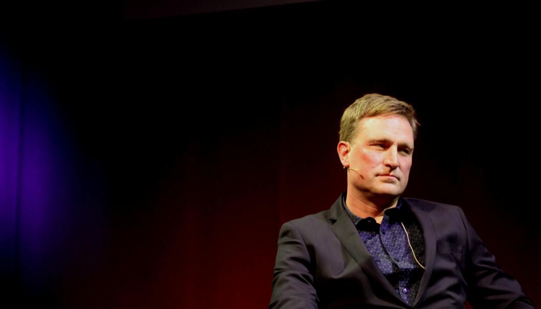 Kjell Alrich Schumann ble intervjuet under Late Night Show på Skup. Foto: Martin Huseby Jensen