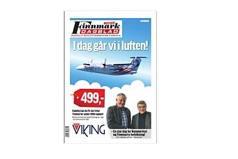 Finnmark Dagblad solgte forsiden til FlyViking - som de også dekker redaksjonelt