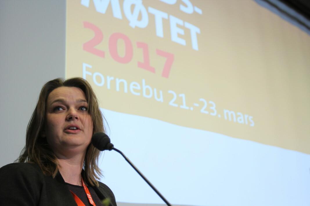 Leder Hege Iren Frantzen i Norsk Journalistlag. Foto: Martin Huseby Jensen