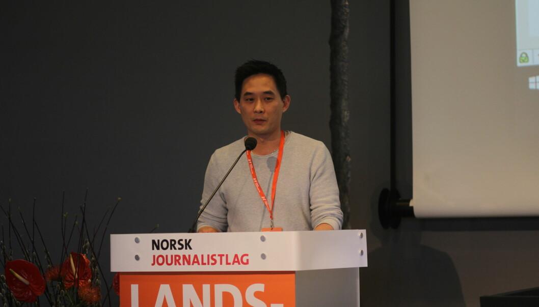 Geir Økland mener tiden er inne for å endre loven som forbyr spillreklame i Norge. Foto: Glenn Slydal Johansen