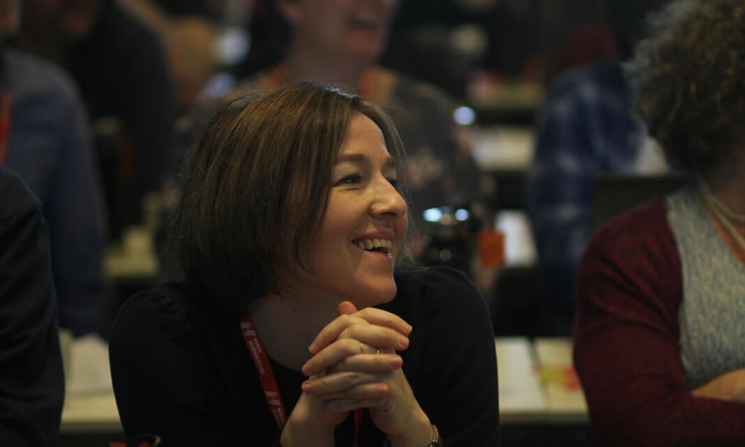 Katrine Strøm på Norsk Journalistlags landsmøtet i 2017. Foto: Glenn Slydal Johansen