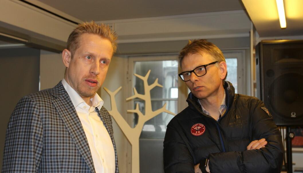 Ansvarlig redaktør Kristoffer Egeberg og nyhetsredaktør Ole Kristian Bjellaanes. Foto: Angelica Hagen