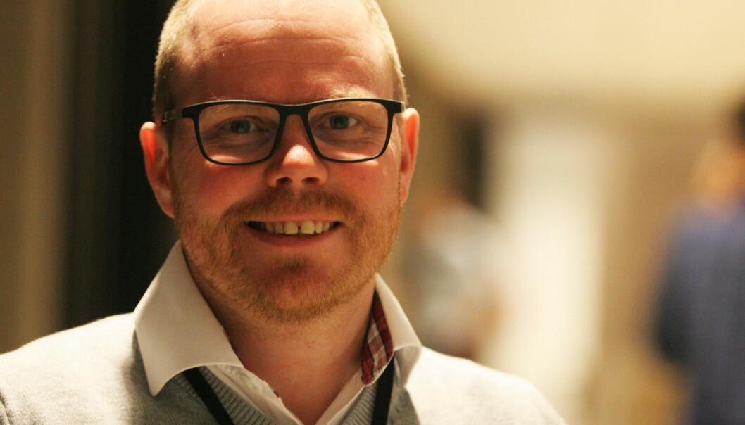 Sjefredaktør Gard Steiro er en nynorskens-venn. Foto: Martin Huseby Jensen.