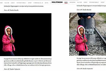 Årets fotojournalist, Odd R. Andersen, ble ikke imponert over Politikens «flyktningbarn-stunt»