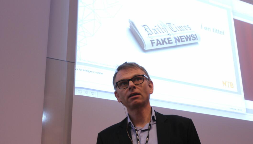 Ole Kristian Bjellaanes på Journalistens konferanse. Foto: Martin Huseby Jensen