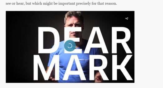 Aftenpostens «Dear Mark» nominert til internasjonal pris
