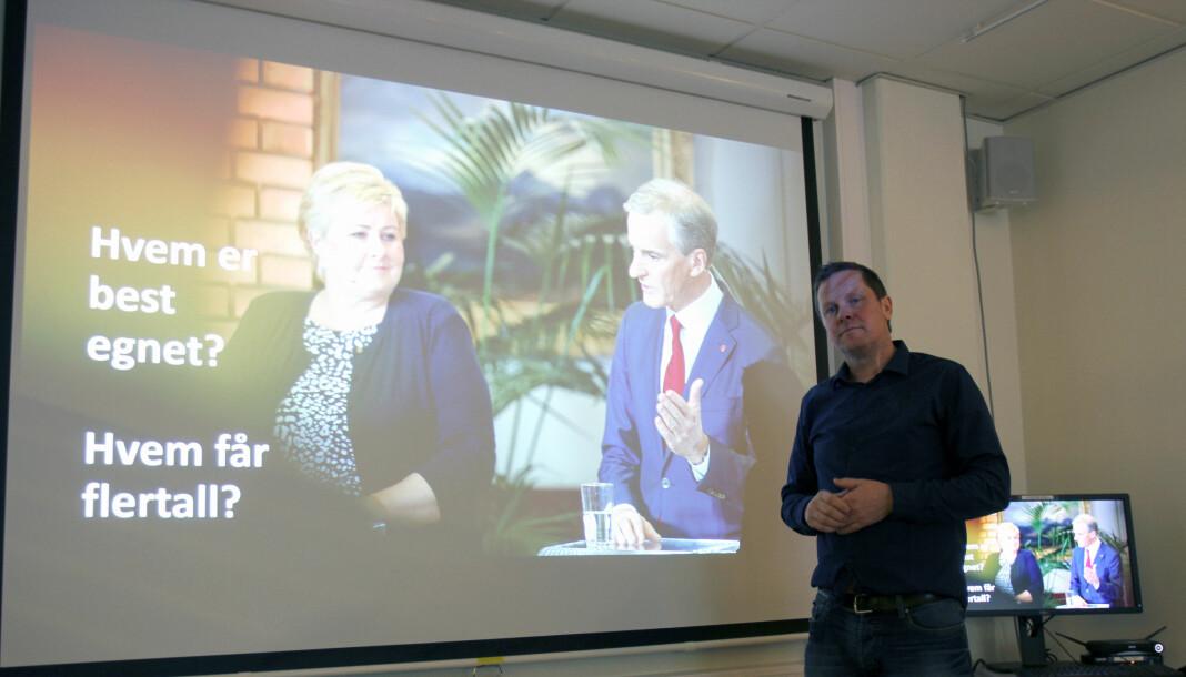 Aksel Helgheim er prosjektleder for valgdekningen i NRK, noe han også var i 2017. I år er NRK på 50 forskjellige steder i Norge. Amedia er også godt representert med sendinger egne lokale sendinger over store deler av landet. Arkivfoto: Glenn Slydal Johansen
