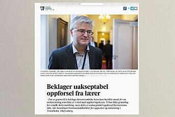NRK og Adresseavisen lot tips om at lærer mobbet egne elever på barneskole i Trondheim ligge