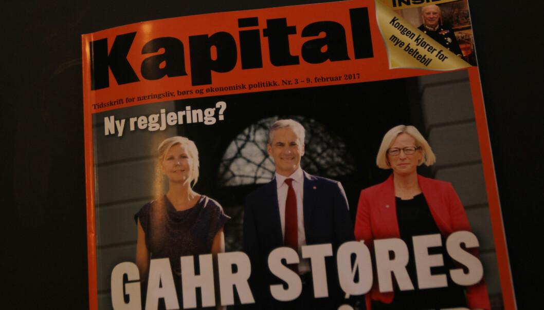 Dette bildet på forsiden av Kapital er satt sammen av tre ulike bilder. – Ikke manipulasjon, mener Trygve Hegnar.