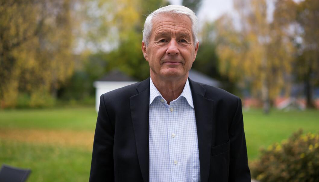 """Kritikerne blir sendt til """"Sibir, sier Torbjørn Jagland, om medienes svar på hans kritikk av valgkampdekningen.  Foto: Helge Øgrim"""