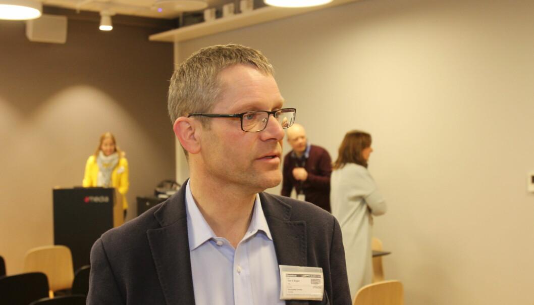 Geir Engen i MBL la fram undersøkelsen onsdag. Arkivfoto: Martin Huseby Jensen.