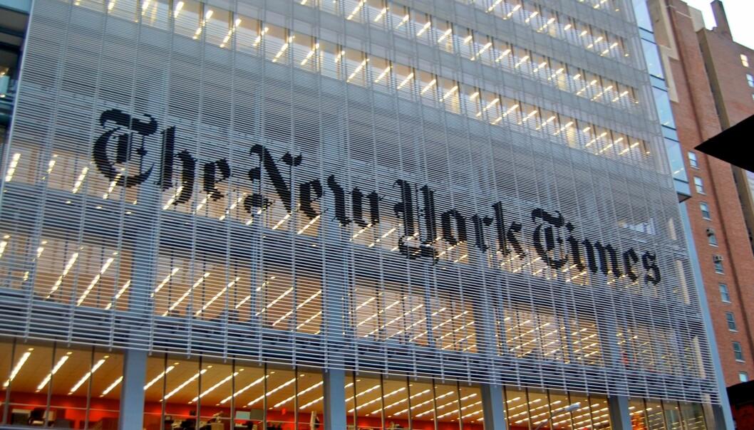 En redaktør må kjenne identiten til anonyme kilder brukt i New York Times. Foto: Haxorjoe/Wikimedia Commons