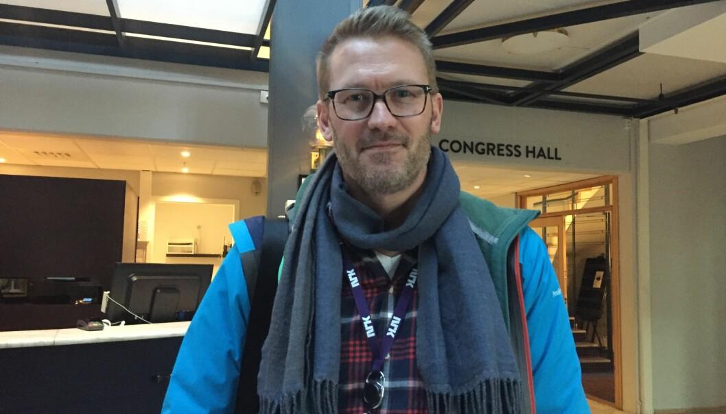 Steinar Bjørlykke er på Hellkonferansen. Foto: Angelica Hagen