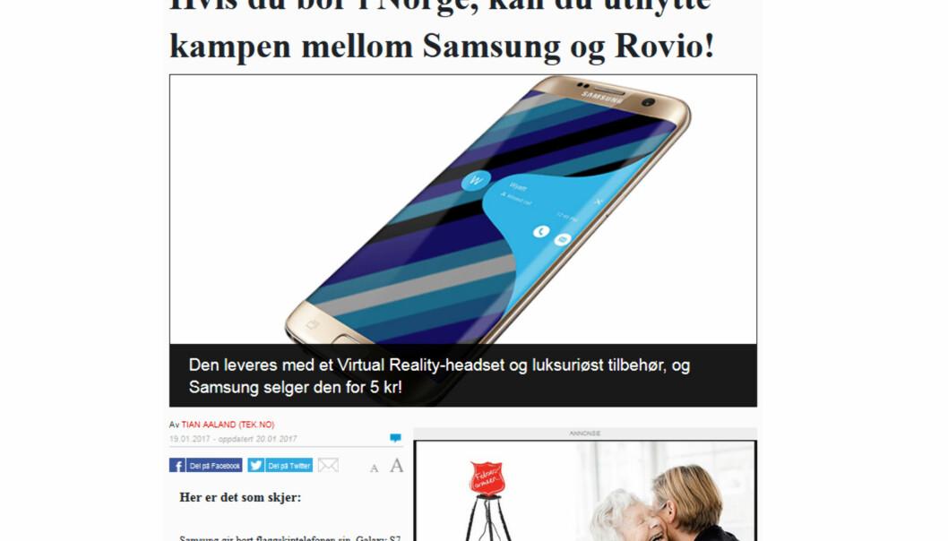 Dette er ren svindel, mener Øyvind Solstad i VG.