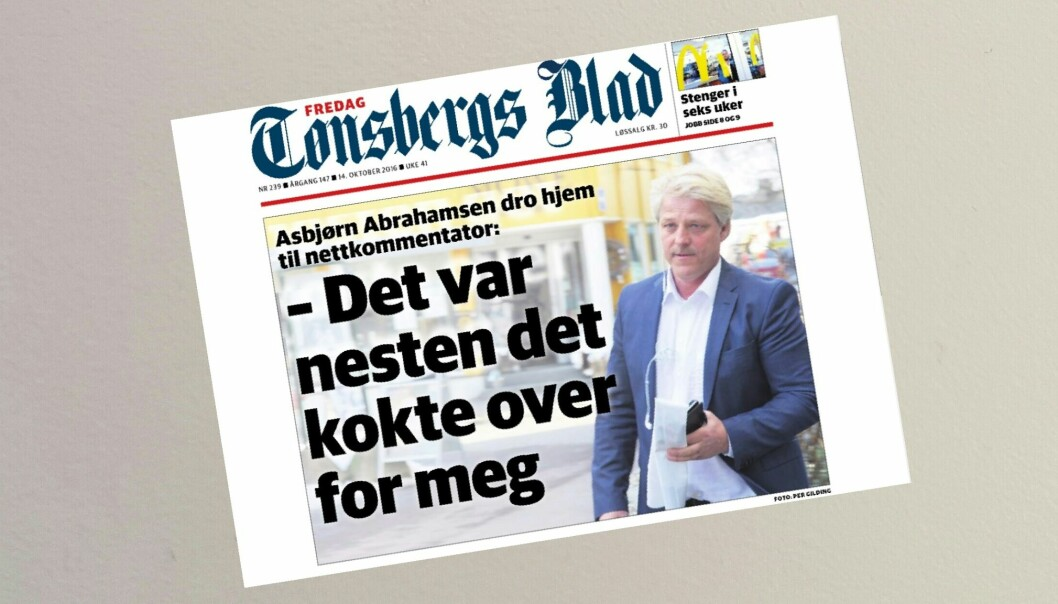 Eiendomsinvestor Asbjørn Abrahamsen reagerte kraftig på mange av nettkommentarene klageren skrev om ham på tb.no.