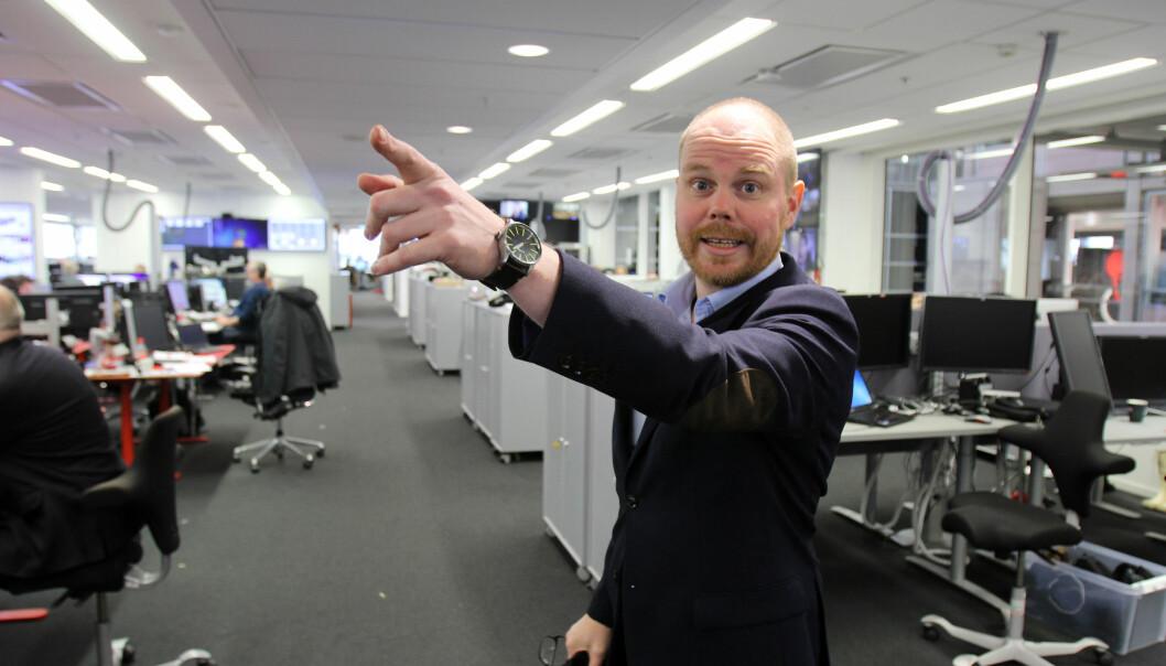 Sjefredaktør Gard Steiro i VG kunne i fjor sterk vekst i inntektene. Foto: Glenn Slydal Johansen