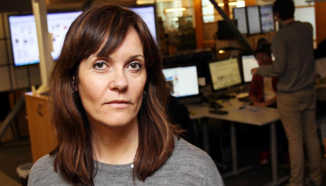 Skremmende, mener ansvarlig redaktør Kristin Monstad i Drammens Tidende. Foto: Birgit Dannenberg.
