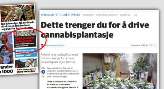 Nordlys publiserer liste over hva du trenger for å drive cannabis=plantasje