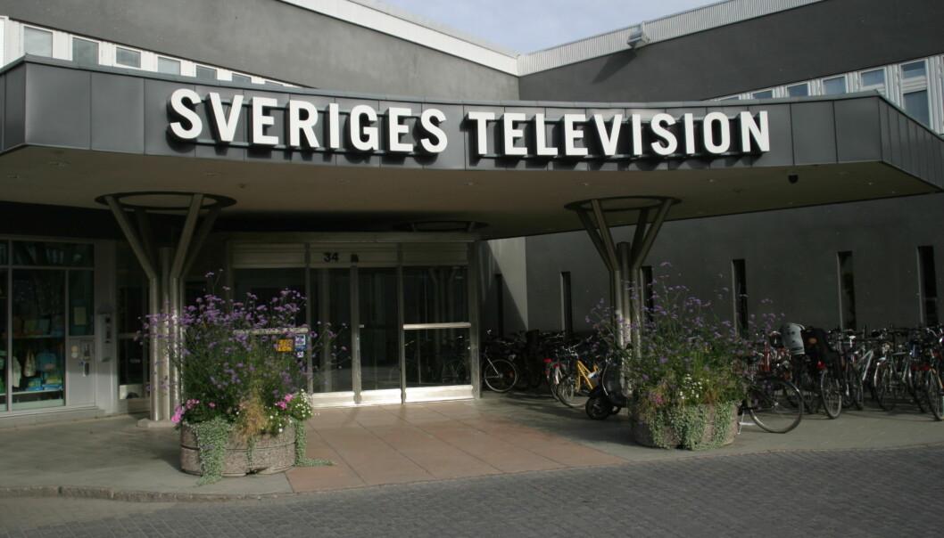 Sveriges Televisions lokaler, her fra hovedkontoret i Stockholm. Foto: Glenn Slydal Johansen