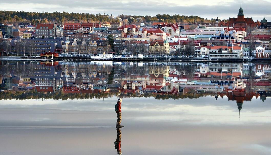 Jan Anderssons fotografi av skøyteløperen på isen er brukt av mange, også medier. Men honorarer er det ikke sikkert han ser særlig til. Faktura er sendt Journalisten for denne bruken, som avtalt. Foto: Jan Andersson