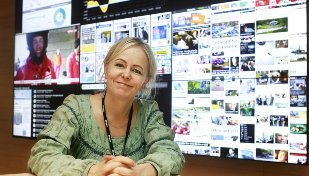 Kristin Grøntoft på jobb i Aftenposten. Foto: Dan Petter Neegaard
