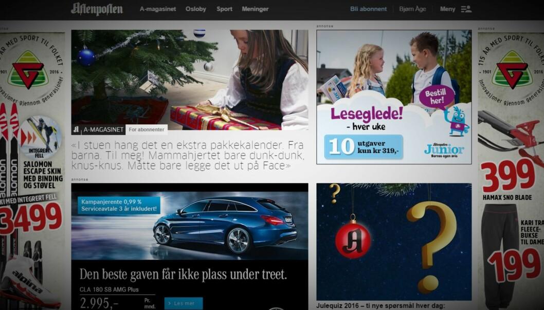 Illustrasjon: Skjermdump fra Aftenposten.no