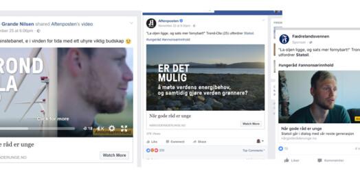 Nei, disse annonsene er ikke publisert av Schibsted-avisene, men av Statoils reklamebyrå