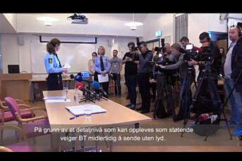 Nyheten politiet presenterte i Bergen søndag kom brått på flere av mediene som sendte direkte