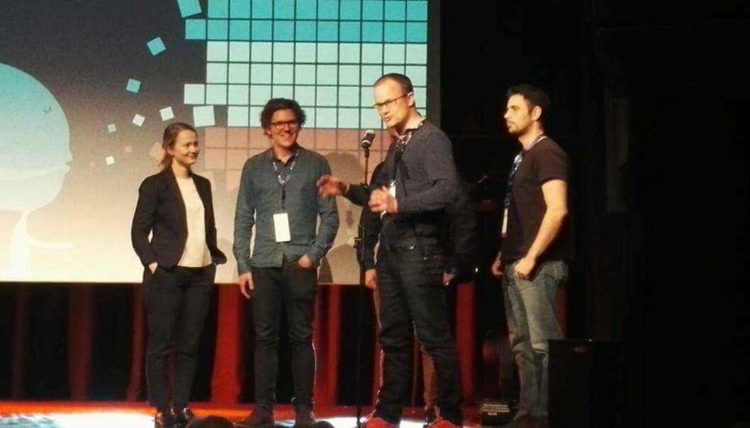 Jon Espen Ingvaldsen og resten av gjengen i Contextual vant pris på 100.000 kroner. Foto: Privat.
