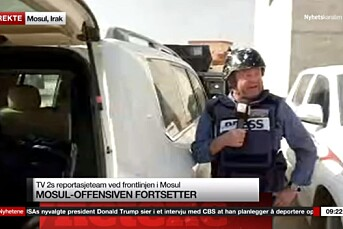 Fredrik Græsvik havnet midt i skuddlinjen da han rapporterte direkte fra Mosul