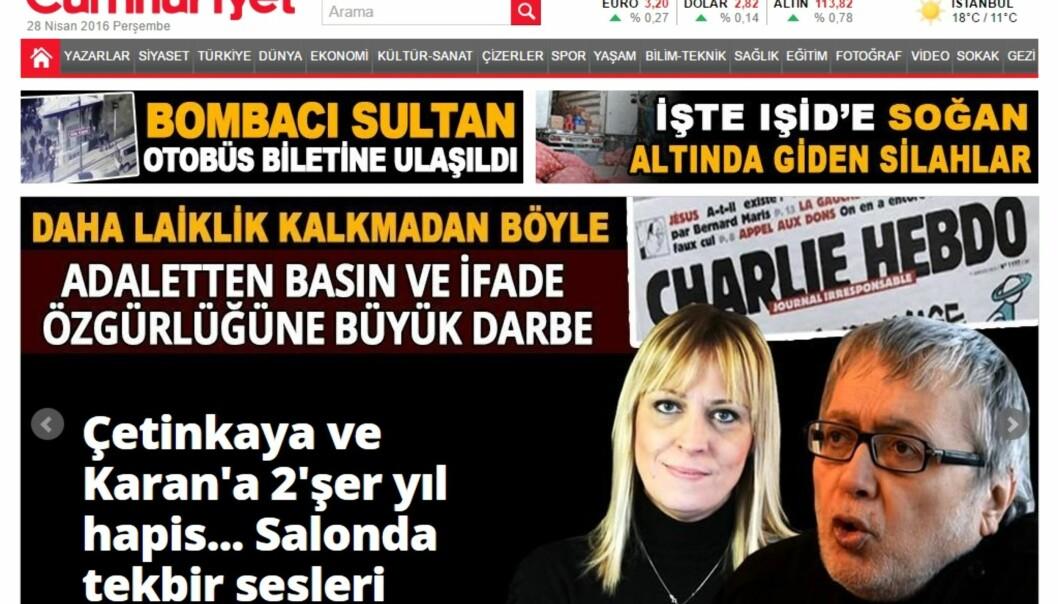 Cumhuriyet, som har vært utgitt siden 1924, er den siste regimekritiske avisen i Tyrkia.