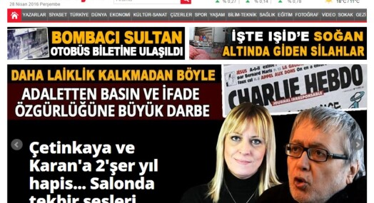 Tyrkiske journalister dømt for Charlie Hebdo-tegning