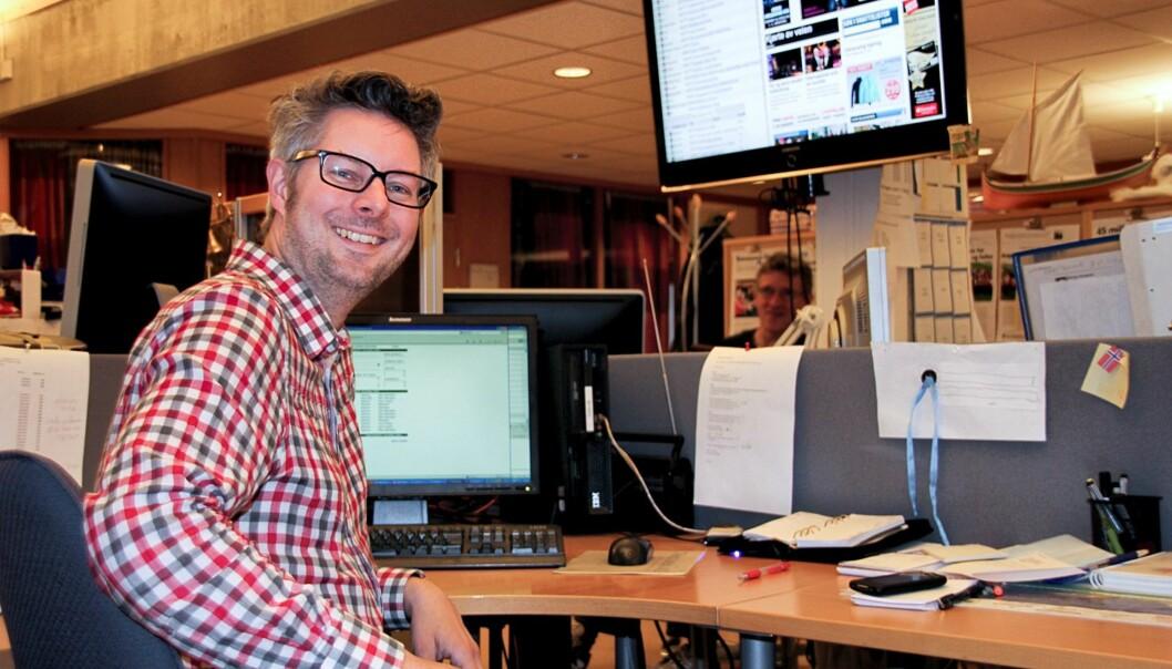 Matti Riesto vil ikke lenger ha papiravis på lørdager. Han mener det ikke er tilrettelagt for det. Foto: Trine M. Albrigtsen/Brønnøysunds Avis.