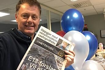 Nettavisen feirer 20 år som avis på nett med å lage avis på papir