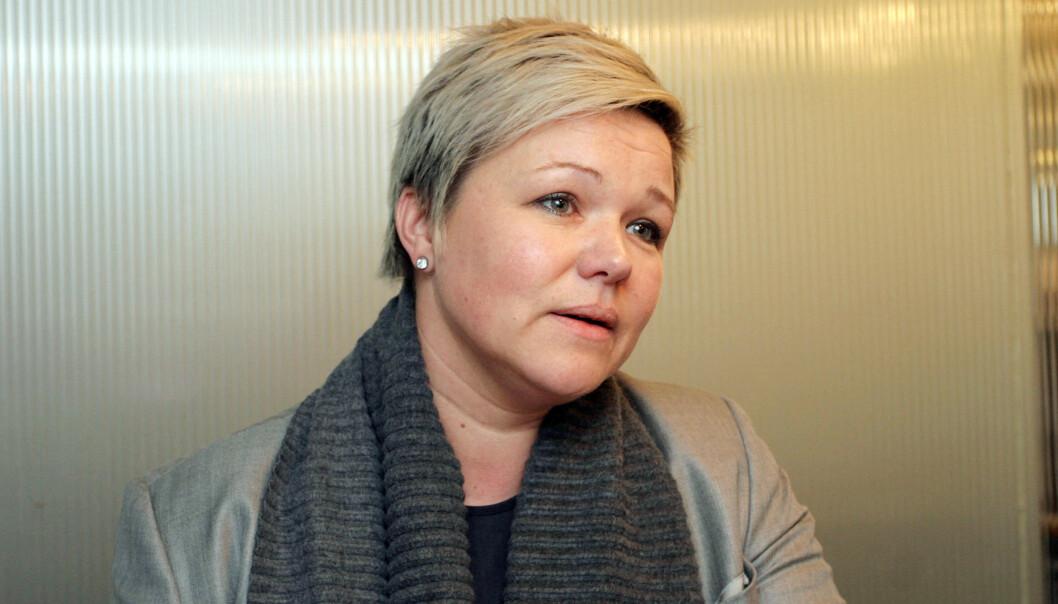 Henrikke Helland er leder av Klubb 2, som ber ledelsen om å utvide perioden for å søke sluttpakke i TV 2. Foto: Birgit Dannenberg
