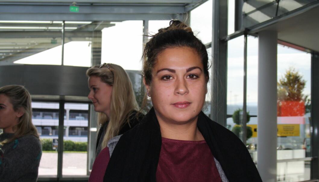 Camilla Ahamath talte om sluttpakkelivet under Hauststormen. Foto: Angelica Hagen